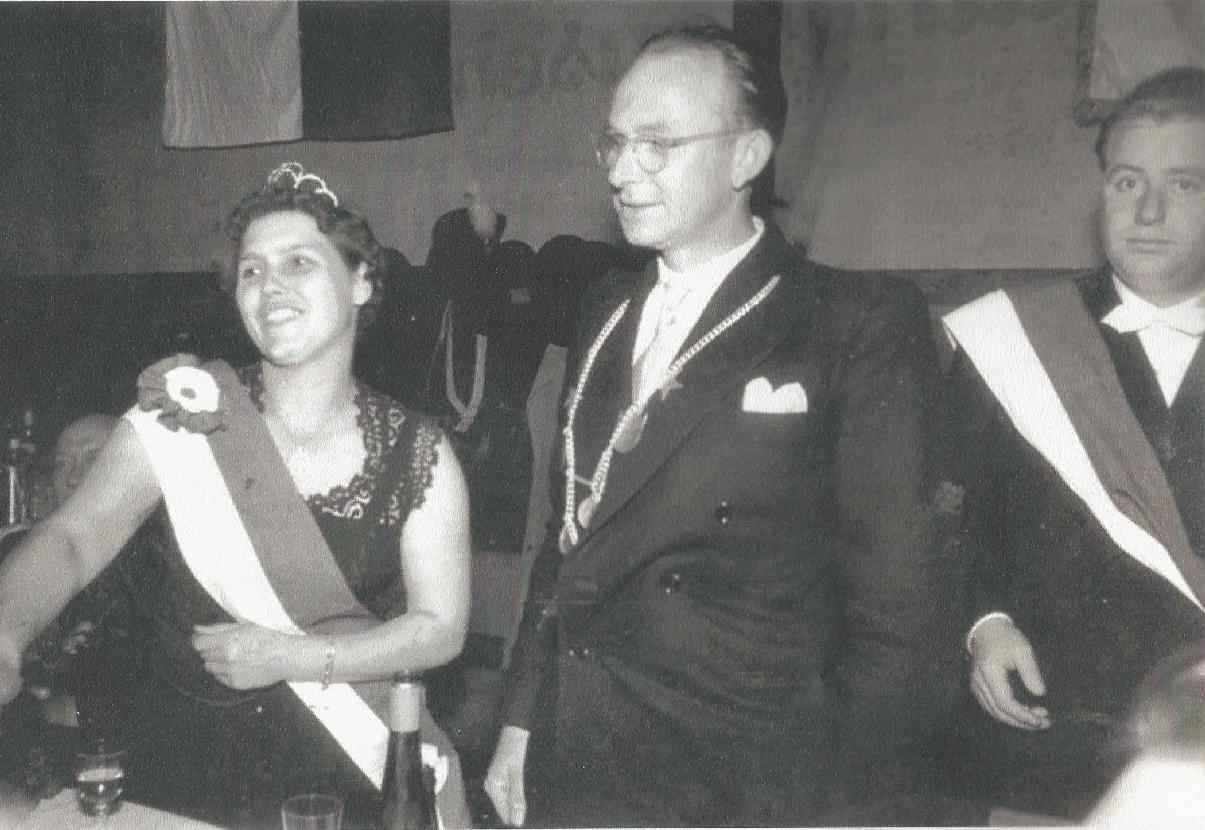 Albert Knepper und Lotte Jankord Königspaar 1957