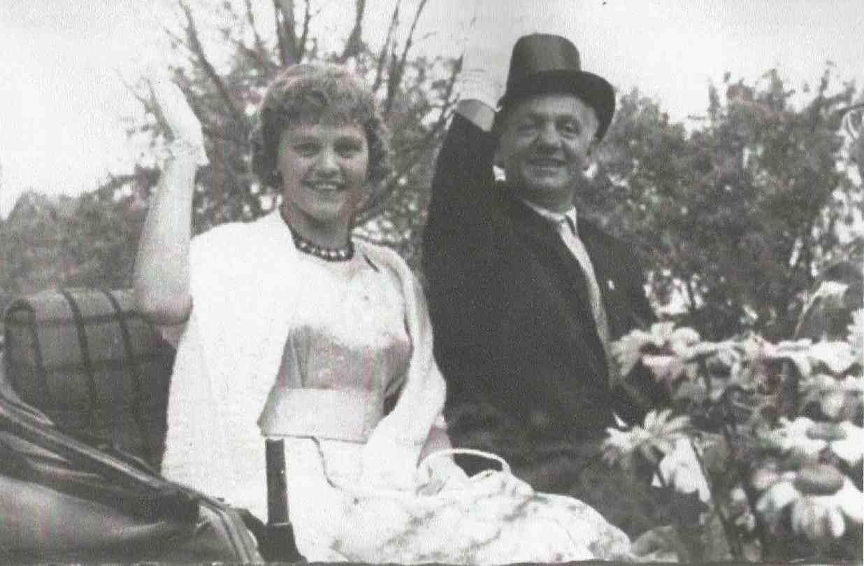 Werner Laurenz und Leni Malkemper Königspaar 1961
