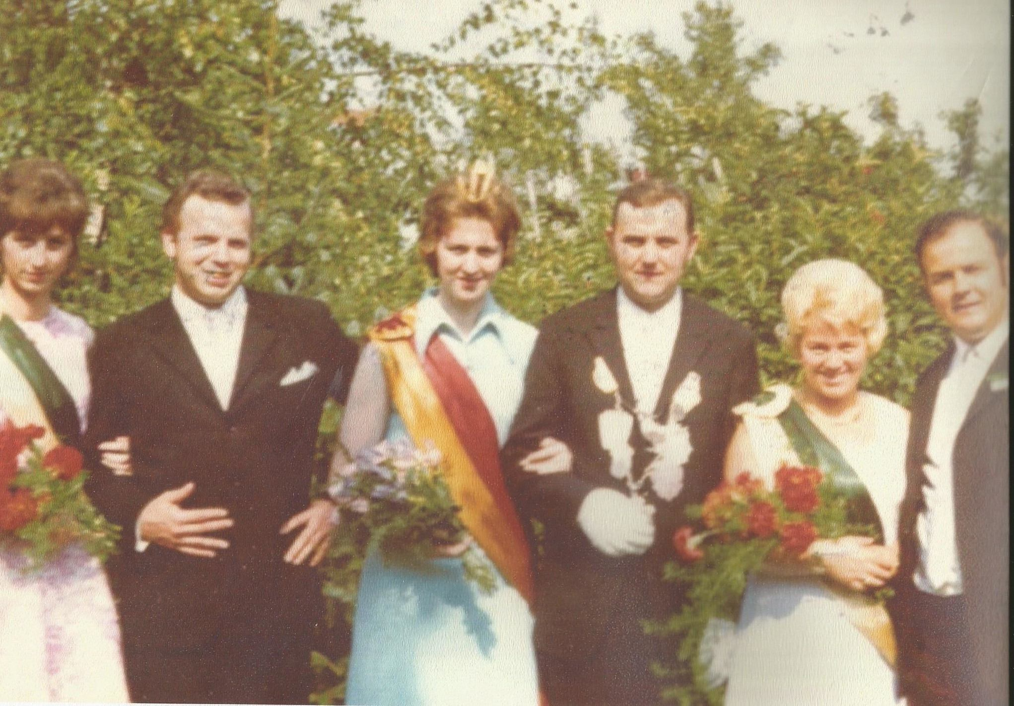 Norbert Heckenkamp und Hildegart Wiegers Königspaar 1971