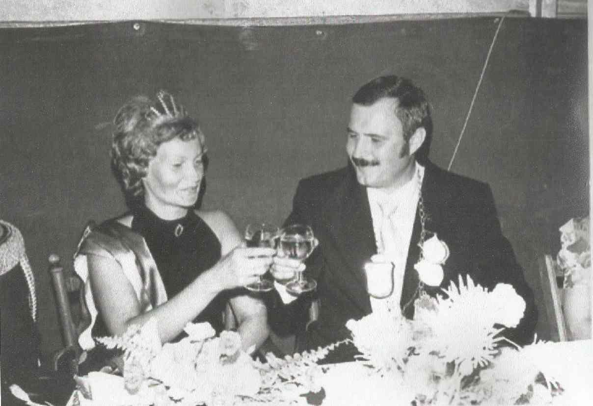 Peter Marklein und Ilse Knickmeier Königspaar 1975
