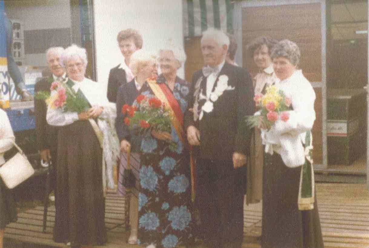 Clemens Drees und Elisabeth Orthmann Königspaar 1977