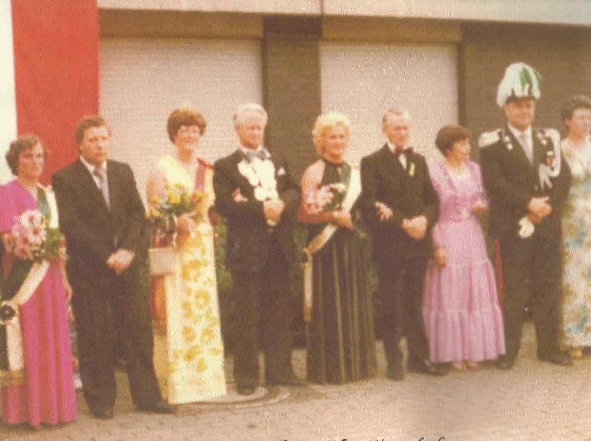 Josef Burkert  und Elsa Mitterndorf Königspaar 1981