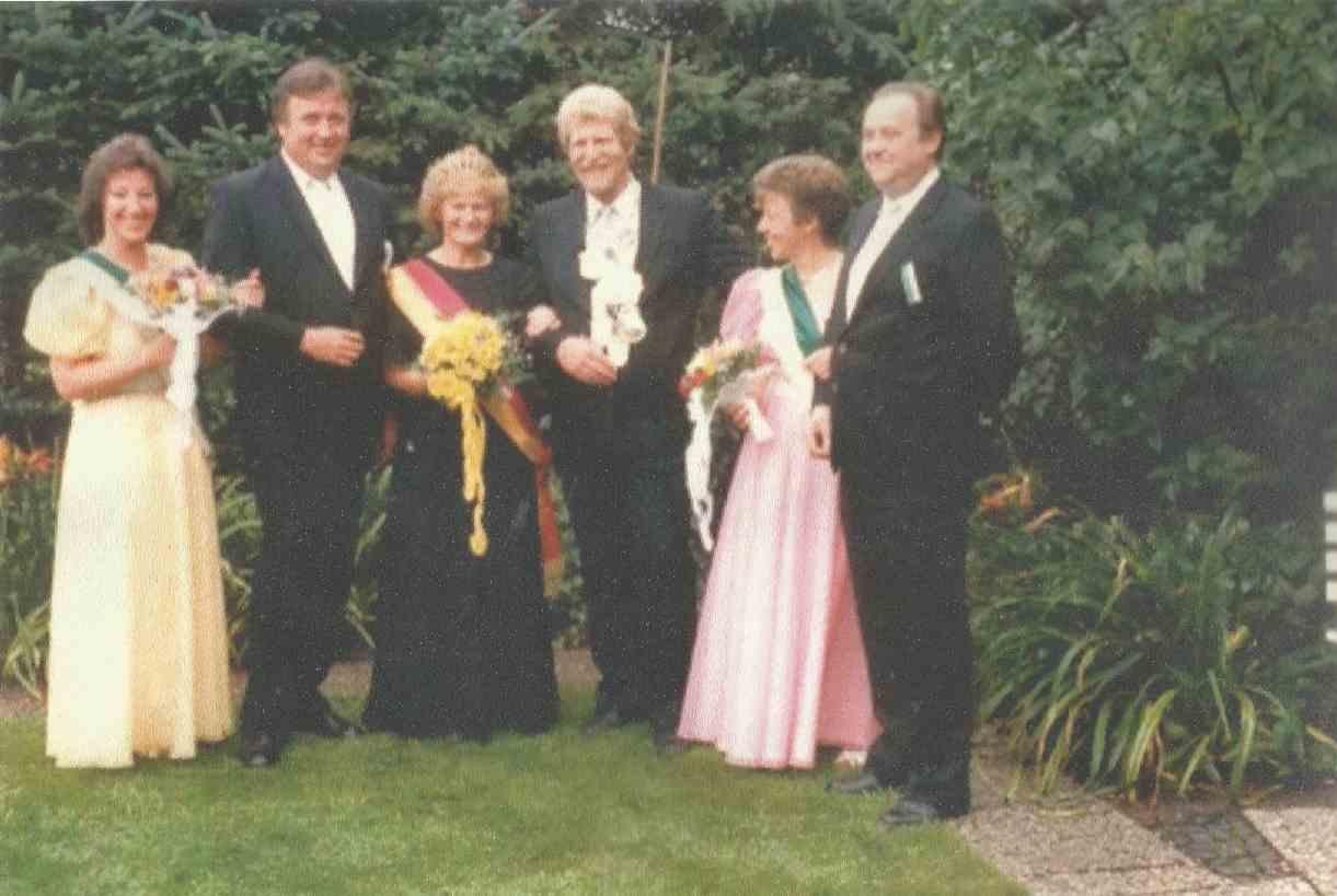 Wolfgang Hauptmann und Elisabeth Möller Königspaar 1983