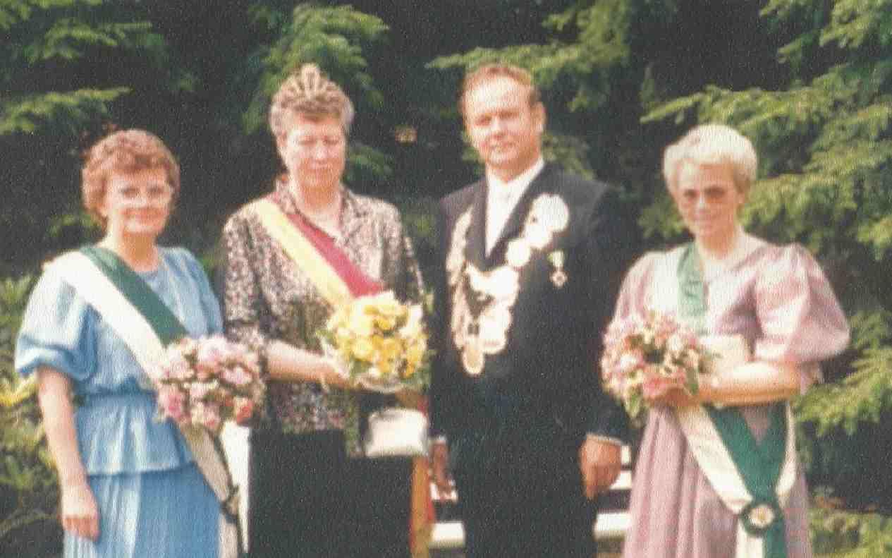 Josef Fritsch und Margret Orthmann Königspaar 1985