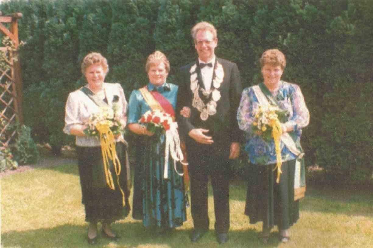 Hubert Havighorst und Elsbeth Focke Königspaar 1987