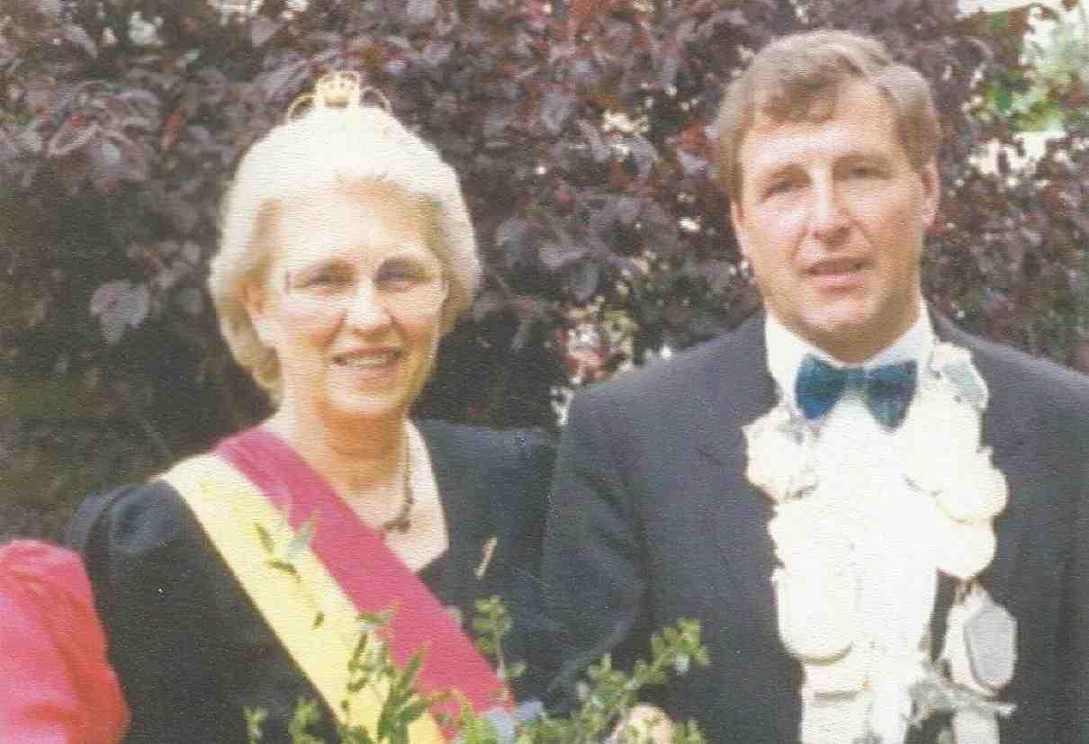 Klaus Rupieper und Anneliese Focke Königspaar 1989