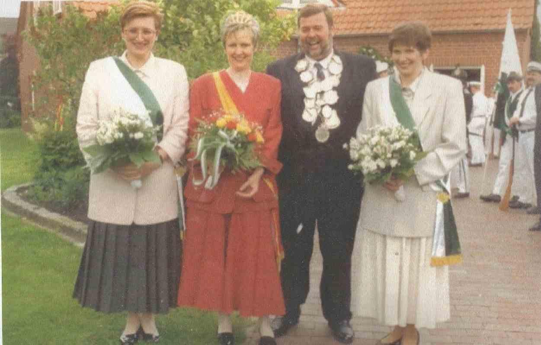 Hans Weber und Margret Focke Königspaar 1991