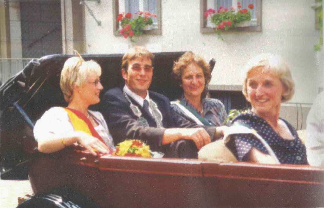 Alfred Focke und Martina Johannkneckt Königspaar 1997